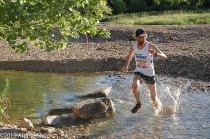 Race winner Kwin Keuter hits Keifer Creek.
